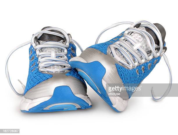 Brand new sport shoes in blue and silver color combination