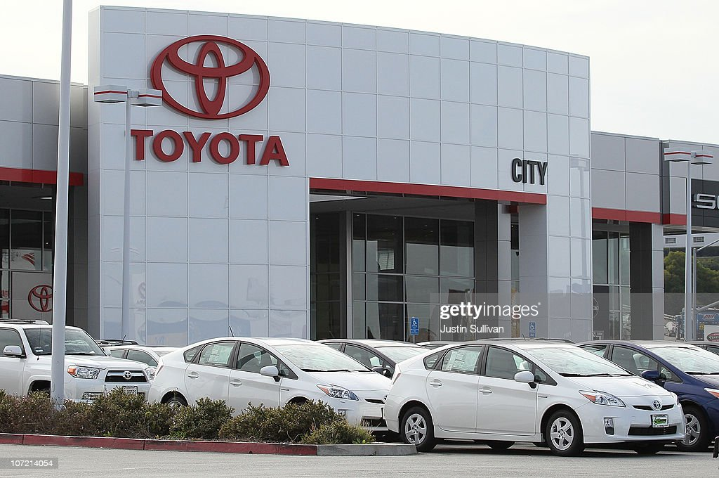 Brand new Toyota Prius hybrids sit on the sales lot at City Toyota on November 30, 2010 in Daly City, California. Toyota Motor Corp. is issuing a recall for 650,000 Toyota Prius hybrids to repair cooling pumps that could fail and cause the vehicle to overheat and lose power.