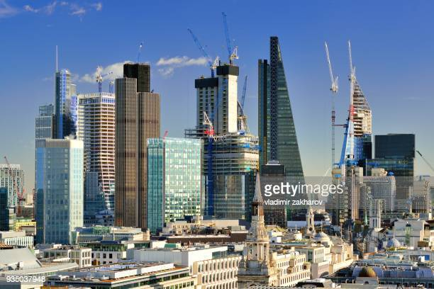 Brand new view of City of London skyline