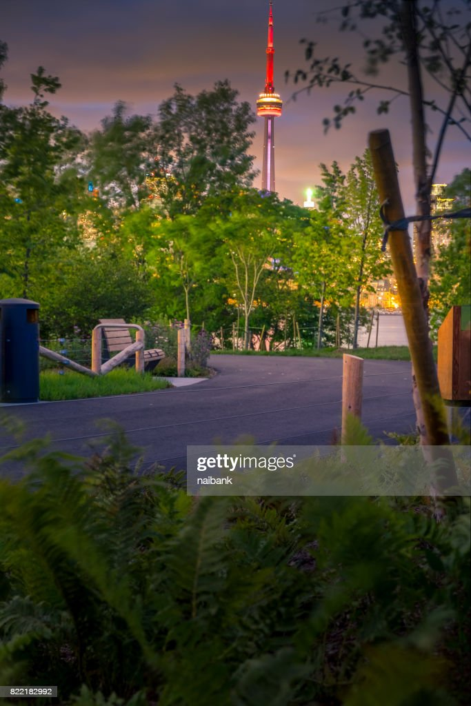 A brand new view of Toronto from Trillium park : Stock Photo