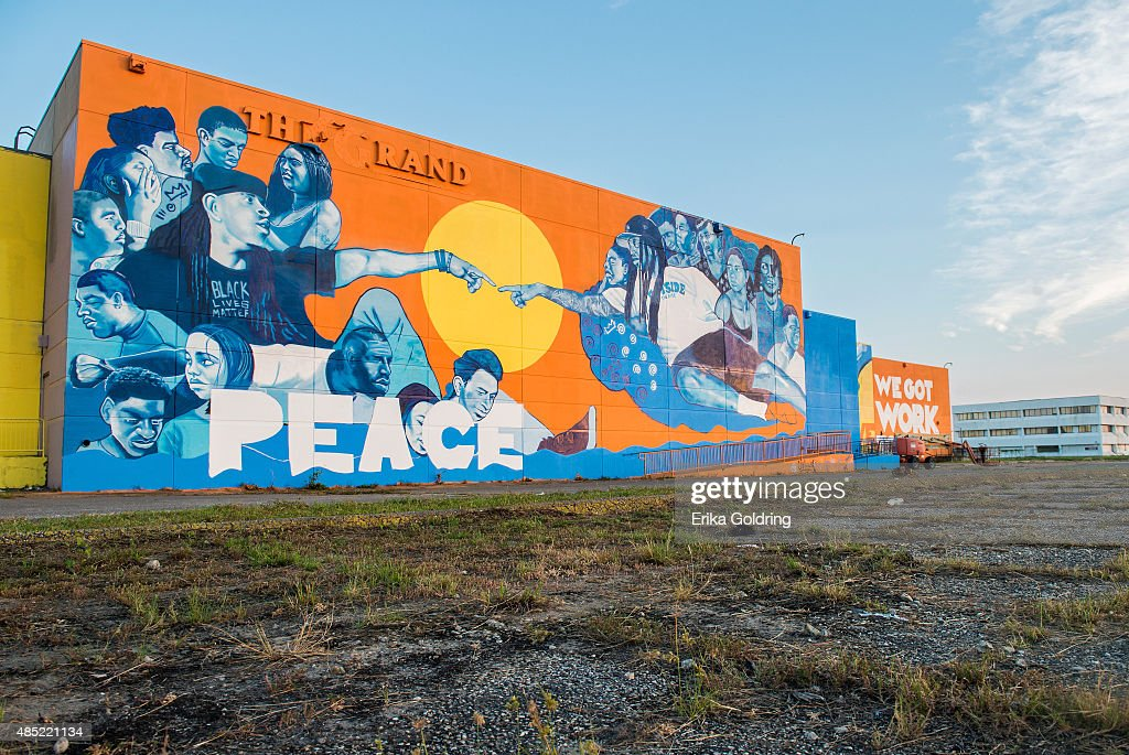 Brandan Odums' Wall Of Peace Mural In New Orleans East : News Photo