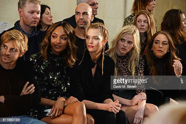 Brandan Green Jourdan Dunn Karlie Kloss Lara Stone and Chloe Green attend the Topshop Unique at The Tate Britain on February 21 2016 in London England