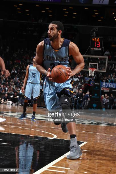 Brandan Wright of the Memphis Grizzlies drives to the basket against the Brooklyn Nets on February 13 2017 at Barclays Center in Brooklyn New York...