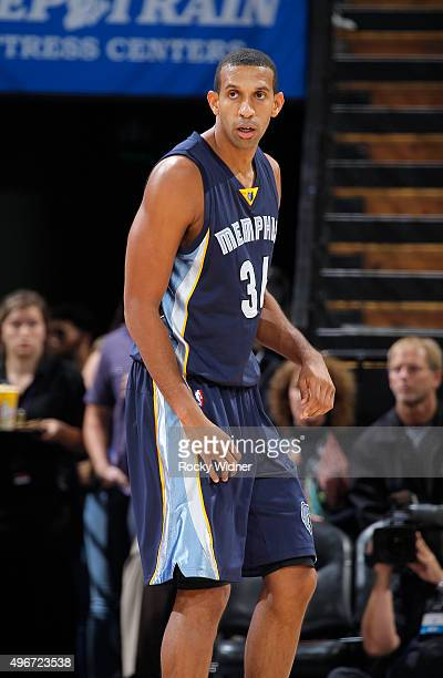 Brandan Wright of the Memphis Grizzlies looks on during the game against the Sacramento Kings on November 3 2015 at Sleep Train Arena in Sacramento...