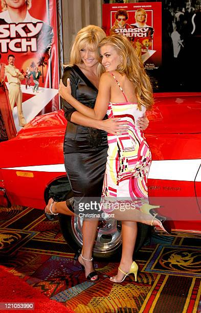 Brande Roderick and Carmen Electra during Warner Home Video Hosts 'Starsky Hutch' DVD Release Party at Studio 54 at Studio 54 in Las Vegas Nevada...