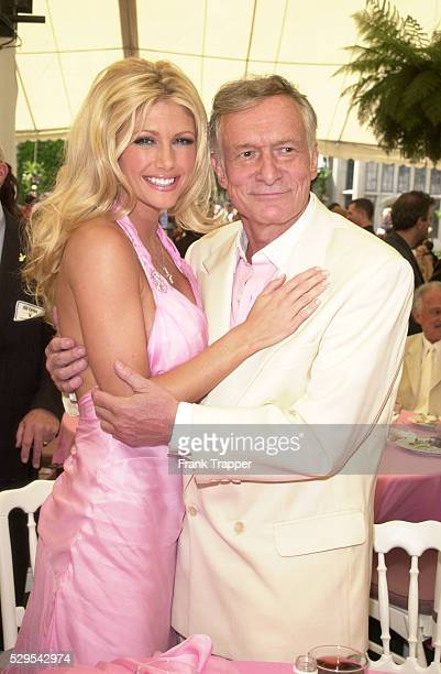Brande Roderick and Hugh Hefner at the Playboy's 2001 Playmate of the Year luncheon held at the world famous Playboy Mansion