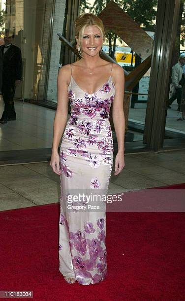 Brande Roderick wearing a dress by Ungaro and Harry Winston jewels
