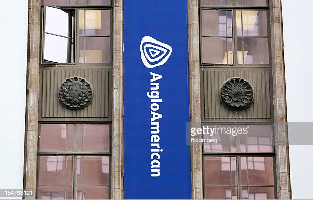 A branded banner hangs from the offices of Anglo American Plc in the Marshalltown district of Johannesburg South Africa on Friday Oct 26 2012 Anglo...