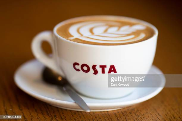 A branded Costa Coffee mug in this arranged photo at a Costa Costa coffee shop on August 31 2018 in London England CocaCola Cois to buy the UK...