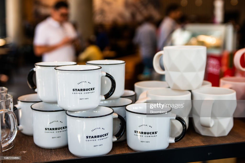 Branded Enamel Retro Styled Mugs Stand On Display For Sale Inside A News Photo Getty Images
