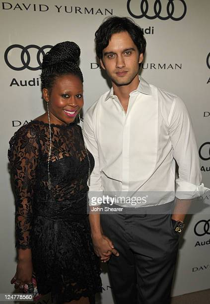 Brandee Tucker and Michael Steger attend Audi and David Yurman Kick Off Emmy Week 2011 and Support Tuesday's Children at Cecconi's Restaurant on...