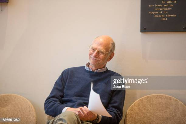 Brandeis Professor Michael Rosbash before a press conference where he discussed winning a Nobel Prize In Medicine on October 2 2017 in Waltham...