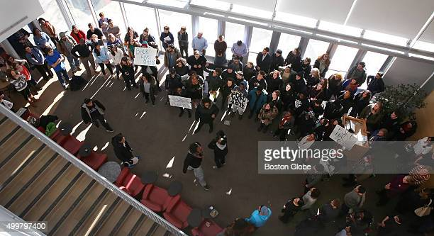 Brandeis University students who are occupying the administration building and the president's office to protest the lack of diversity on campus hold...