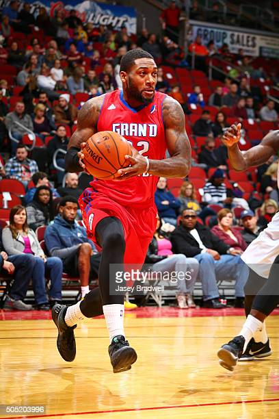 Branden Dawson of the Grand Rapids Drive drives to the basket against the Iowa Energy in an NBA DLeague game on January 15 2016 at the Wells Fargo...
