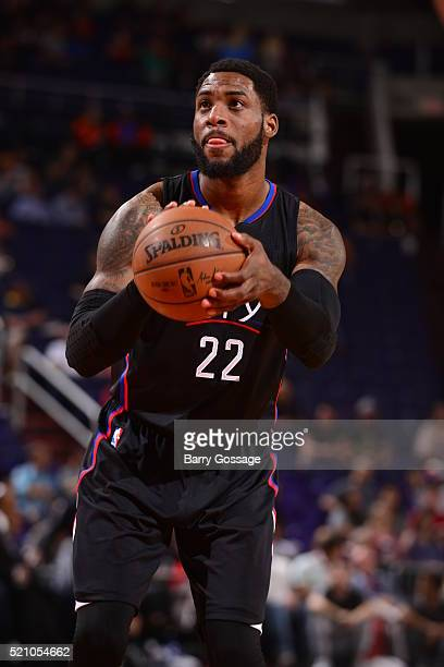 Branden Dawson of the Los Angeles Clippers prepares to shoot a free throw against the Phoenix Suns on April 13, 2016 at Talking Stick Resort Arena in...
