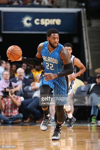 Branden Dawson of the Orlando Magic handles the ball against the Memphis Grizzlies during a preseason game on October 3, 2016 at FedExForum in...