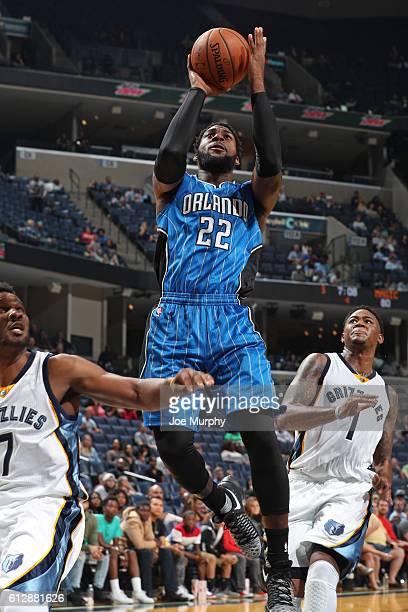 Branden Dawson of the Orlando Magic shoots the ball against the Memphis Grizzlies during a NBA preseason game on October 3, 2016 at FedExForum in...
