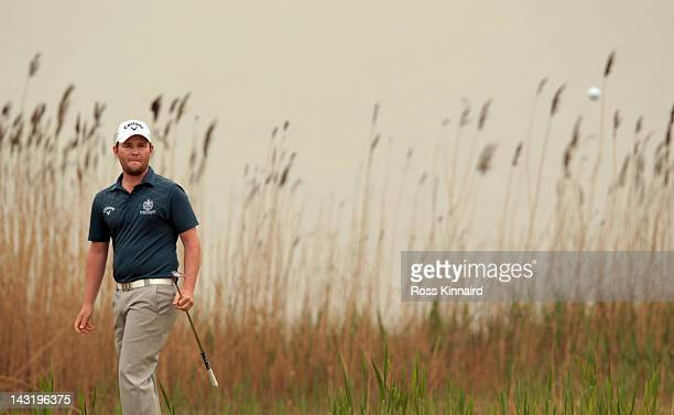 Branden Grace of South Africa during the third round of the Volvo China Open at the Binhai Lake Golf Course on April 21 2012 in Tianjin China