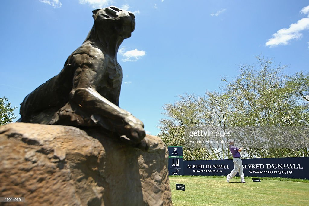Branden Grace of South Africa tee's off at the 2nd during the final round of the Alfred Dunhill Championship at Leopard Creek Country Golf Club on December 14, 2014 in Malelane, South Africa.