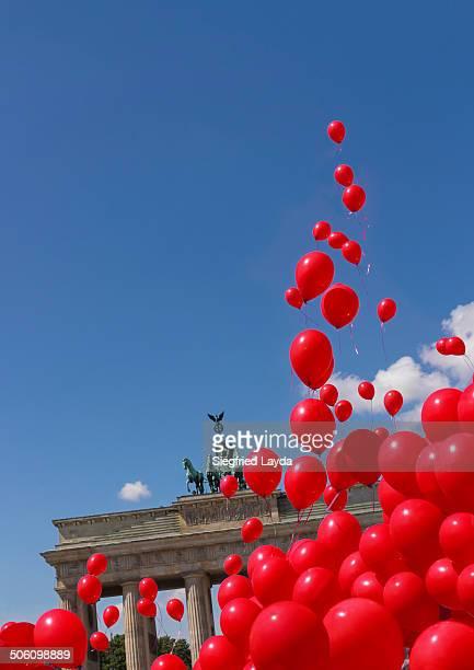 Brandenburg Gate and balloons