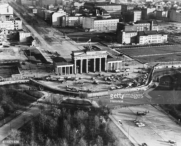 Brandenburg Gate and the Berlin Wall