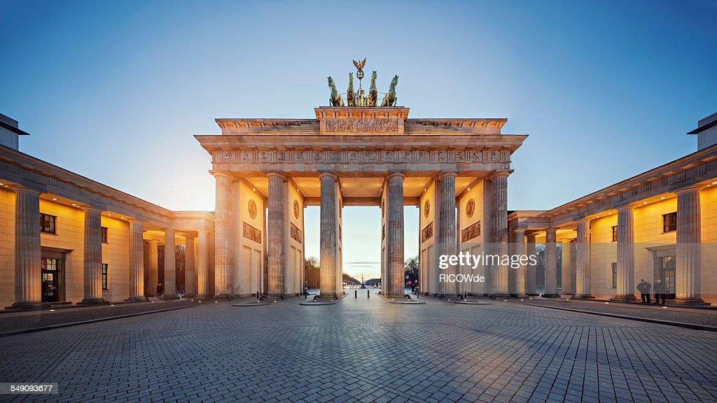 Brandenburg Gate at sunset : Stock Photo