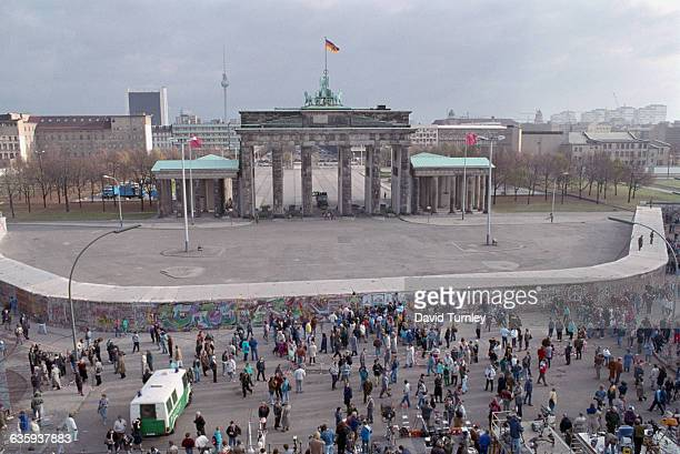 Brandenburg Gate Behind the Berlin Wall