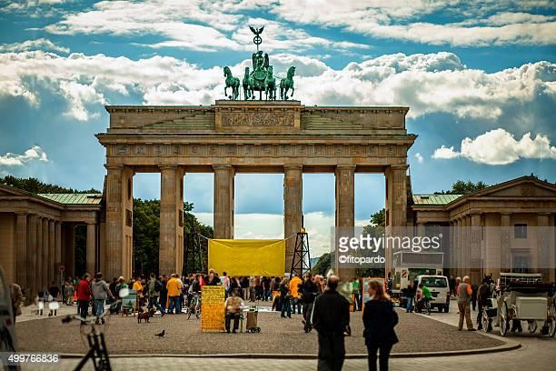 Brandenburg Gate from behind