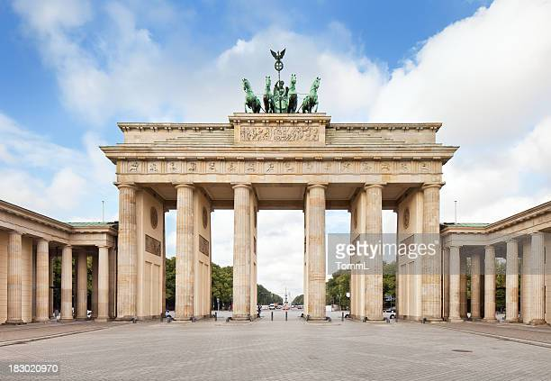 brandenburg gate, in berlin, germany - berlin stock pictures, royalty-free photos & images