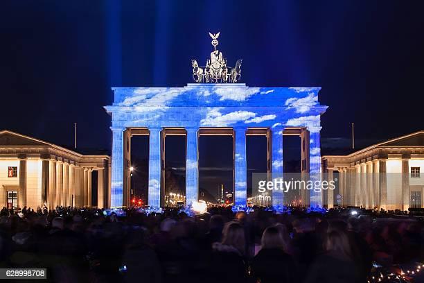 Brandenburg Gate (Brandenburger Tor) in special lights (Berlin, Germany)