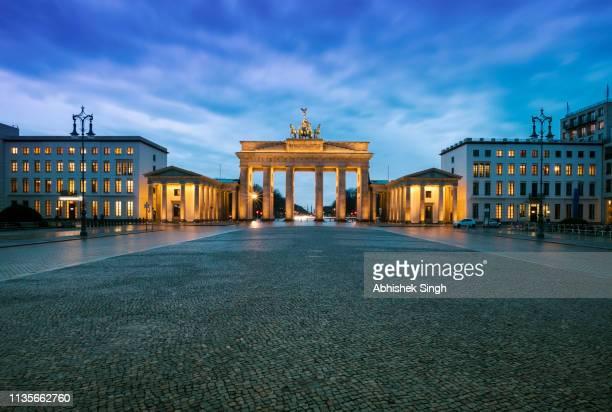 brandenburger tor, in berlin, germany - stock image - brandenburger tor stock-fotos und bilder