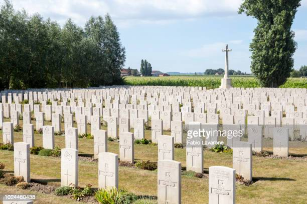brandhoek new military cemetery - place concerning death stock pictures, royalty-free photos & images