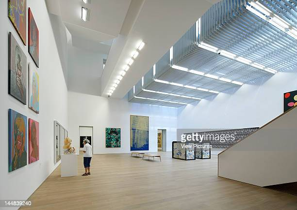 Brandhorst MuseumMunich Munich Germany Architect Sauerbruch Hutton Brandhorst Museum Sauerbruch Hutton Munich Germany Interior Shot Showing A Person...