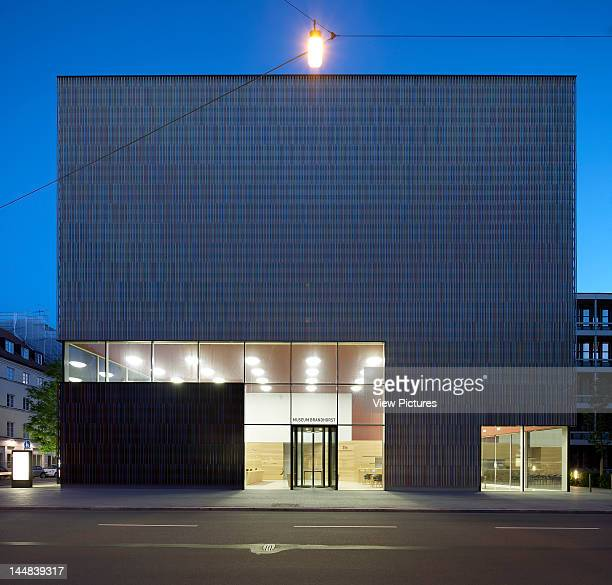 Brandhorst MuseumMunich Munich Germany Architect Sauerbruch Hutton Brandhorst Museum Sauerbruch Hutton Munich Germany Exterior Night Time Shot...