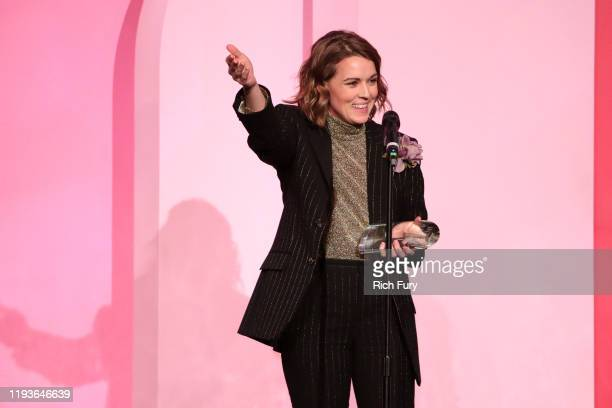 Brandi Carlile accepts the Trailblazer Award onstage during Billboard Women In Music 2019 presented by YouTube Music on December 12 2019 in Los...