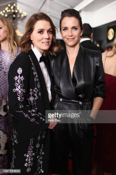 Brandi Carlile and Catherine Shepherd attends the 61st Annual GRAMMY Awards at Staples Center on February 10 2019 in Los Angeles California