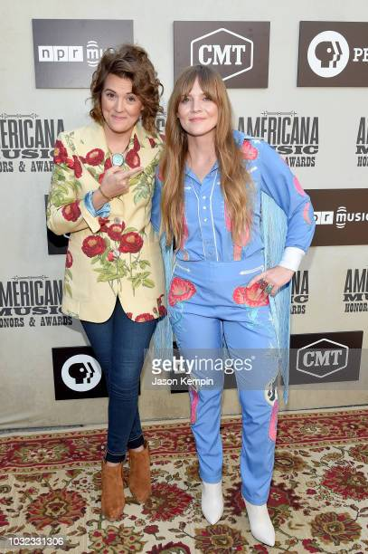 Brandi Carlile and Courtney Marie Andrews attend the 2019 Americana Music Honors and Awards at Ryman Auditorium on September 12 2018 in Nashville...