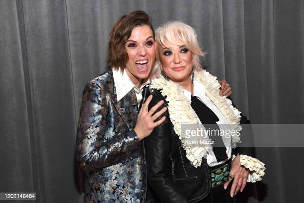 Brandi Carlile and Tanya Tucker attend the 62nd Annual GRAMMY Awards at STAPLES Center on January 26 2020 in Los Angeles California