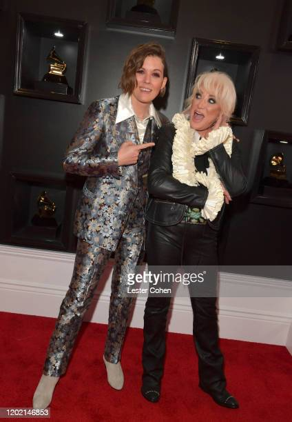 Brandi Carlile and Tanya Tucker attends the 62nd Annual GRAMMY Awards at STAPLES Center on January 26 2020 in Los Angeles California