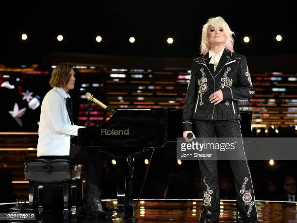Brandi Carlile and Tanya Tucker perform at the 62nd Annual GRAMMY Awards on January 26 2020 in Los Angeles California