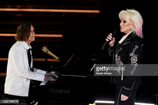 Brandi Carlile and Tanya Tucker perform onstage during the 62nd Annual GRAMMY Awards at STAPLES Center on January 26 2020 in Los Angeles California