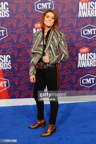 Brandi Carlile attends the 2019 CMT Music Award at Bridgestone Arena on June 05 2019 in Nashville Tennessee