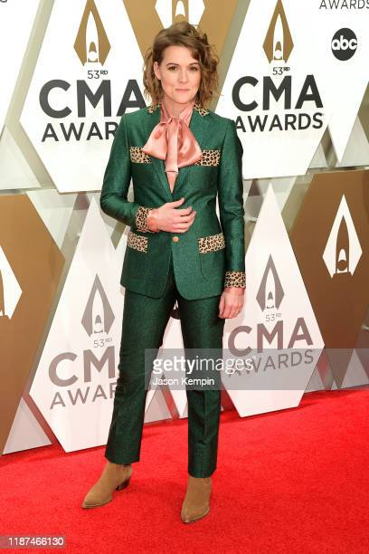 Brandi Carlile attends the 53rd annual CMA Awards at the Music City Center on November 13 2019 in Nashville Tennessee