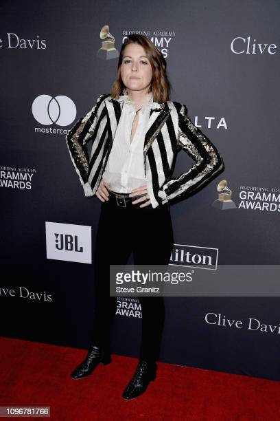 Brandi Carlile attends The Recording Academy And Clive Davis' 2019 PreGRAMMY Gala at The Beverly Hilton Hotel on February 9 2019 in Beverly Hills...