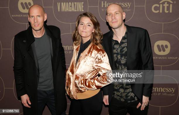 Brandi Carlile attends the Warner Music Group's annual Grammy celebration in association with V magazine on January 25 2018 in New York / AFP PHOTO /...