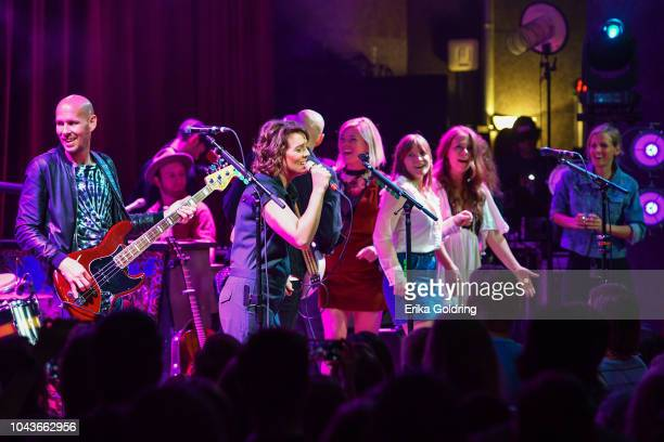 Brandi Carlile Liz Longley Courtney Marie Andrews and Kanene Donehey Pipkin of The Lone Bellow perform at City Winery Nashville on September 23 2018...