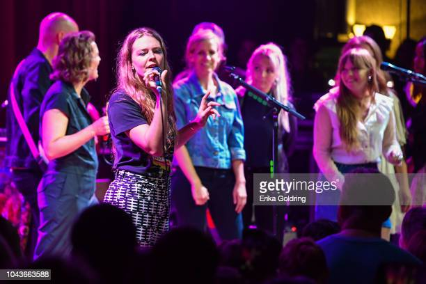 Brandi Carlile Maggie Rogers Katie Herzig Savannah Conley and Courtney Marie Andrews perform at City Winery Nashville on September 23 2018 in...