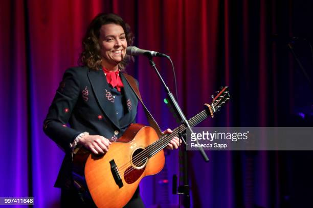 Brandi Carlile performs at An Evening With Brandi Carlile at The GRAMMY Museum on July 12 2018 in Los Angeles California