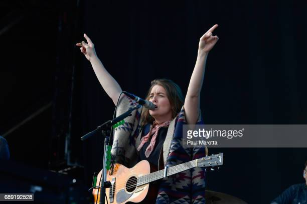 Brandi Carlile performs at the 2017 Boston Calling Festival at Harvard University Athletics Complex on May 27 2017 in Allston Massachusetts