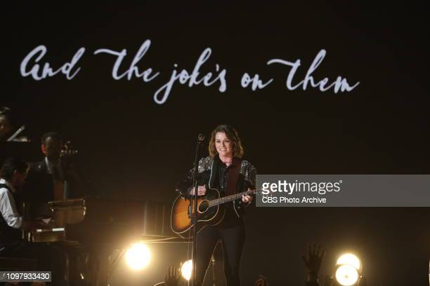 Brandi Carlile performs at THE 61ST ANNUAL GRAMMY AWARDS broadcast live from the STAPLES Center in Los Angeles Sunday Feb 10 on the CBS Television...